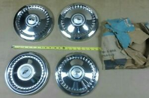 Nos Gm Chevy Ii 64 65 66 67 Dogdish Poverty Hubcap Set 64 Chevelle 67 69 Corvair