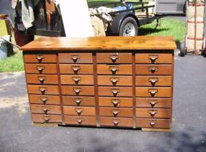 Great Antique Hardware Store Cabinet With 28 Oak Drawers Reed Hardware C F Oh