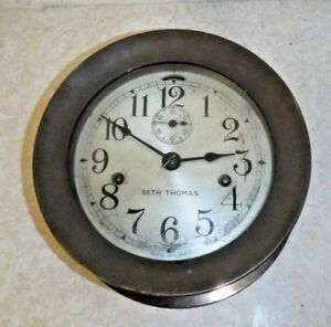 Antique Seth Thomas U S Deck Clock Double Spring Ship S Clock Working With Key