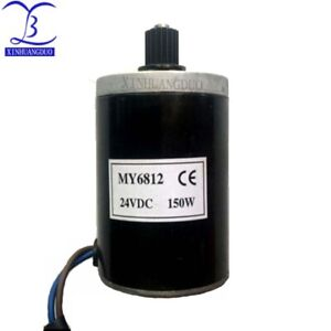 My6812 Dc 150w 100w 12v 24v High Speed Motor With Belt Pulley small Brush Motor