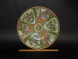 Large Antique Chinese Canton Famille Rose Medallion Charger Platter 13 3 8