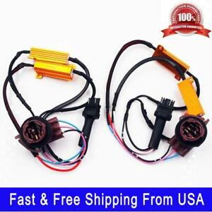 2x Load Resistor Decoder For 3157 4157 Led Switchback Light Turn Signal Light