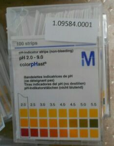 New Millipore Mcolorphast Ph 2 9 Strips Non Bleeding Ph Indicator Paper 100 pack