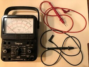 Simpson 260 Series Electrical Meter With Probes Volt Ohm Milliammeter Lot42