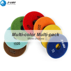 7pcs Diamond Floor Polishing Pads 3 4 Resin Wet For Floor Machine Concrete 4mm
