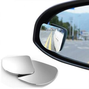 2pcs Car Wide Angle Convex Blind Spot Round Stick On Side View Rearview Mirror
