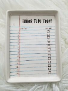 Rae Dunn Office Desk Organizer things To Do Today Tray