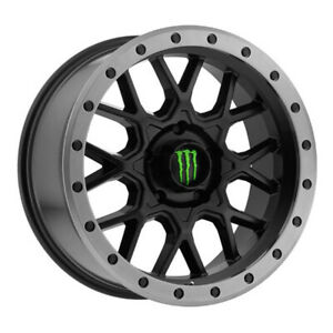 18x9 Monster Energy 649ba Wheels Black 6x5 5 00 108 Set Of 4