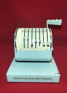 Vintage Rare Paymaster Check Writer Series X 550 With Cover And Original Key