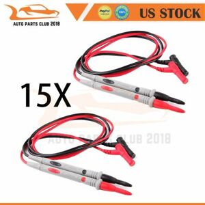 15 Lots Universal Digital Multimeter Multi Meter Test Lead Probe Wire Pen Cable