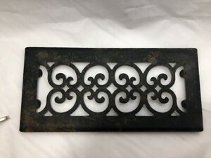 Vintage Ornate Cast Iron Metal Vent Register Cover Heat Grate 11 5 X 5 5 P