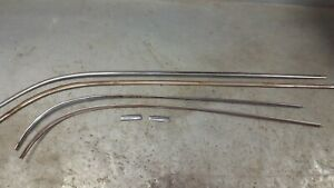 1963 64 65 Ford Fairlane Soirts Coupe Two Door Hardtop Drip Rail Stainless Trim