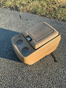 1978 1991 Oem Ford Truck Bronco Center Console Cupholder Bucket Seat Tan F250