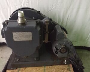 Welch 1397 Duo seal Vacuum Pump Dayton 5x4320 1 Hp 1725 Rpm Electric Motor