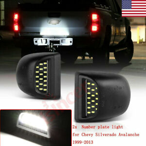 For 1999 2013 Chevy Silverado Avalanche Bright Smd Led License Plate Lights Lamp