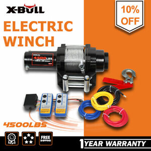 X Bull Electric Winch 4500lbs 12v Recovery Winch Steel Cable Utv Atv Winch 4wd