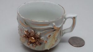 Small Teacup Made In Germany Copper Accents