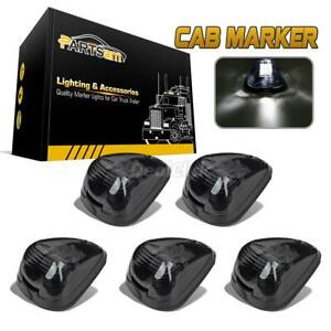 5xbright White 9led Smoke Cab Marker Clearance Light Assembly For Ford E F 99 16