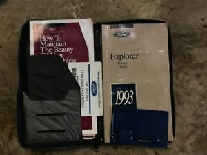 1993 Ford Explorer Owners Manual With Case And Plastic Blank Key