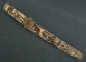 Antique Japanese Dagger Superb Tanto Sword In Signed By Artist Mounts 19 Century