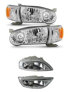 For 2001 2002 Toyota Corolla Headlights And Fog Lights Light Lamps Switch Set