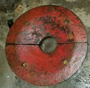 Massey Ferguson Combine Rear 2 X Halves Wheel 50 Lb Each Weights 100lb