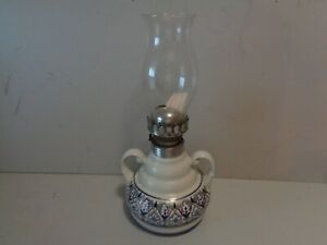 Clean Vintage Hungarian Heavy Porcelain Oil Lamp Free Quick Ship
