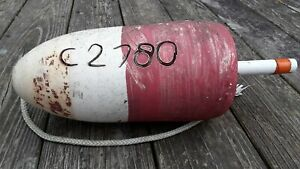 Old Beachcombed Commercial Crabpot Bouy Chesapeake Bay Authentic Nautical Bouy