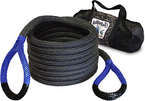 Bubba Rope 176660blg 7 8 X 20 Bubba Blue Eyes Recovery Rope With Life Guard