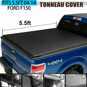 Tonneau Cover Soft Tri Fold Fit 2004 2014 Ford F150 Pickup Truck 5 5ft Bed New