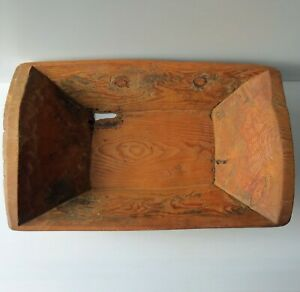 Antique Hand Hewn Wooden Dough Bowl Trencher