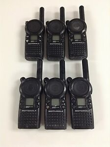 Motorola Cls1110 5 mile 1 channel Uhf 2 way Radio Good Condition Lot Of 6