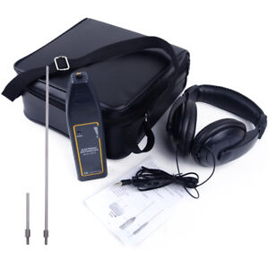 Leak Detector Water Pipe Electronic Stethoscope Earphone Abnormal Noise Tool Kit