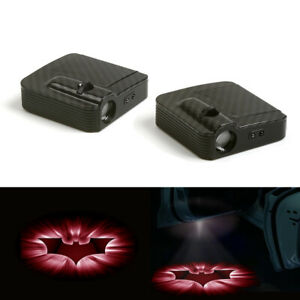 Red White Batman Logo Car Door Wireless 12v Led Laser Projector Shadow Light