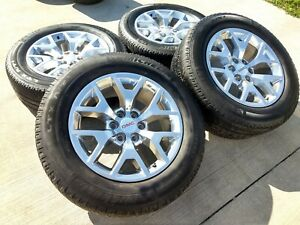 20 Gmc Yukon 2018 2019 Chevy Sierra Oem Wheels Rims Tires 5698 2015 2016 2017