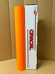 Oracal 6510 1 Roll 24 x5ft Fluorescent Red orange 038 Sign Vinyl