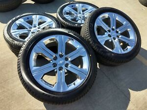22 Chevy Tahoe 2018 Gmc Sierra Chrome Oem Wheels Rims Tires 5667 2016 2017 2019