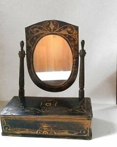 Antique Vintage Dresser With Mirror Drawer Rustic Primitive Decor