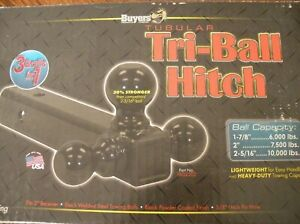 Triple 3 In 1 Ball Trailer Hitch Receiver Mount 1 7 8 2 2 5 16 Towing Bx361