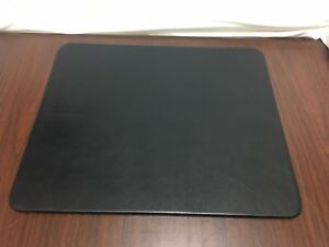 Black Genuine Leather Desk Pad 17 X 14 Conference Pad discontinued