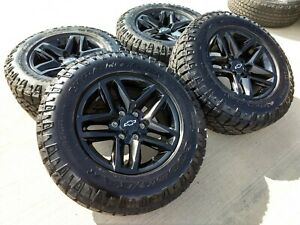 18 Chevy Silverado Trail Boss At4 Gmc Sierra Black 2019 Oem Z71 Oe Wheels Rims