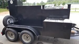 Pitmasters Iron Pig Bbq Smoker Grill Trailer Sink Food Truck Mobile Catering
