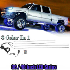 Rgb Led 36 48 Light Car Truck Underbody Under Glow Neon Tube System 8 Color