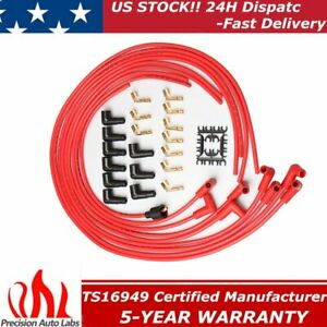 8mm 4041 Universal Spark Plug Wires For Chevy Ford Flathead Hei Small Block