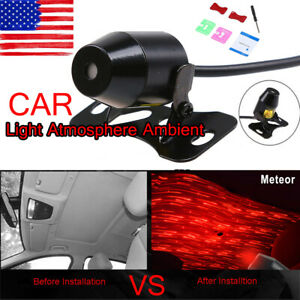 Usb Red Light Car Atmosphere Lamp Interior Ambient Star Light Us Stock