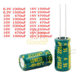 6 3 25v 470 10000uf High Frequency Low Esr Radial Electrolytic Capacitor 105c