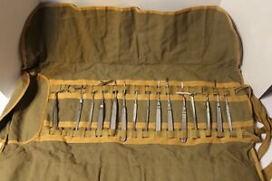 15 Antique Cullmann Medical Surgical Instruments Tools Canvas Us Army Dr Miller
