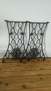 2 Vintage Singer Treadle Sewing Machine Legs Only M37a2