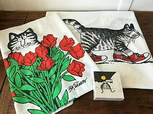 Vintage Kliban Pillowcases And Small Puzzle Red Tennis Shoes Roses
