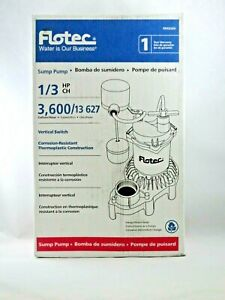 New Flotec Submersible Thermoplastic Sump Pump 1 3 Hp fpzs33v
